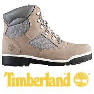 Timberland Big Kids' Leather Waterproof Boots Grey